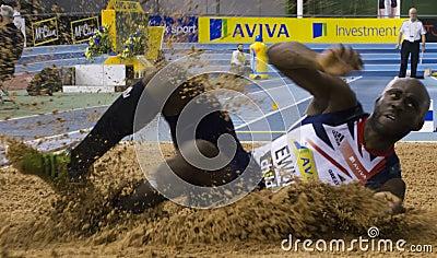 Aviva Indoor UK Trials and Championships Editorial Stock Image