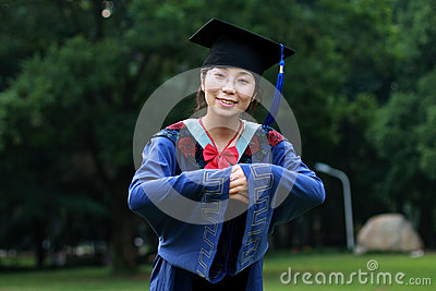 Avläggande av examenflicka