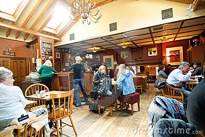 Avoca s Fitzgerald pub interior Editorial Stock Image