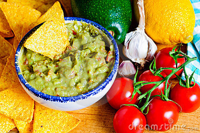 Avocado guacamole ingredients