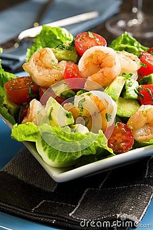Free Avocado Shrimp Salad Royalty Free Stock Images - 4546229