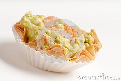 Avocado and shrimp voulavent.