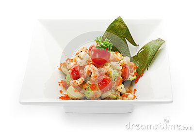 Avocado And Shrimps Salad Stock Image - Image: 14838611