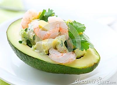 Avocado and Shrimps Salad