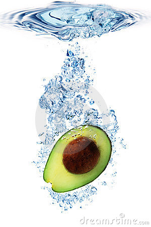 Avocado in water