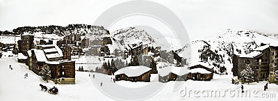 A  ski resort in the French Alps,