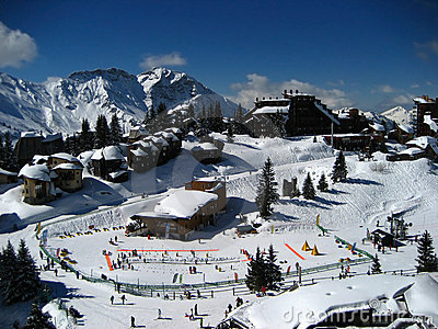 Avoriaz, a sky station in the French Alps