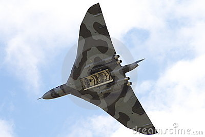 Avro Vulcan bomber in flight