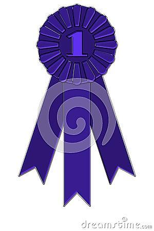 Award badge with ribbon