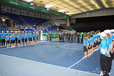 Award ceremony at tennis Zurich Opne 2012 Editorial Image