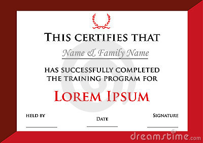 Award diploma or certificate with Laurel Wreaths