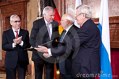 Award of the Franz-Josef Strauss Prize Editorial Stock Image