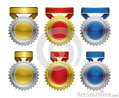 Award medal rosettes