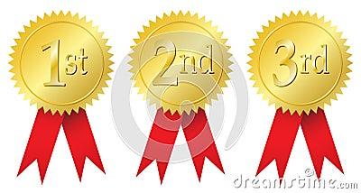 Award medals Vector Illustration