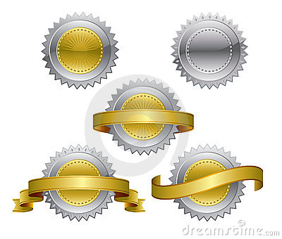 Award medals - gold, silver,