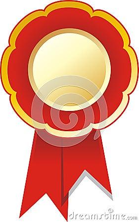 Award ribbon badge