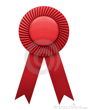 Award ribbon isolated