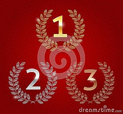Awards golden emblems