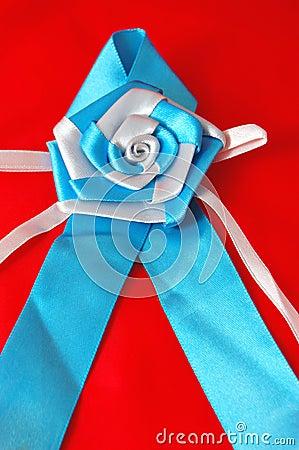 Awareness Ribbon with rose