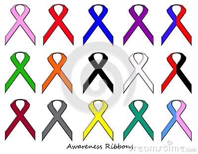 Awareness Ribbons Set