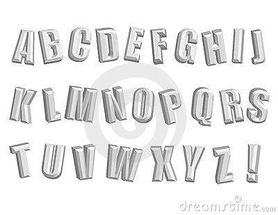 Awesome 3D Alphabet! Vector / Clip Art