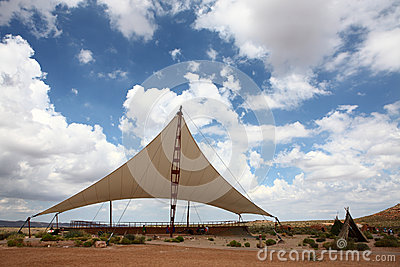 Awning on the deserts