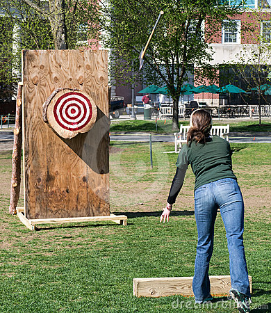 Ax Throwing event at Woodmans Competition Editorial Stock Photo