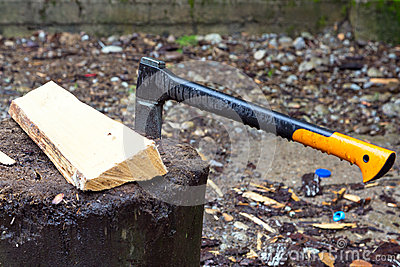 Axe for a log fire