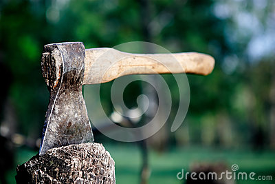 Axe in the stump