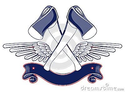 Axe wing emblem