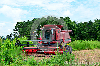 Axial Flow Case lll Combine Harvester Editorial Stock Photo