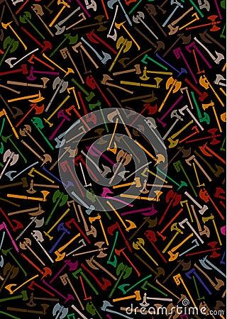 Axt-und Kampf-Axt-Hintergrund