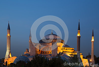 Aya Sofia at Dusk Editorial Photography