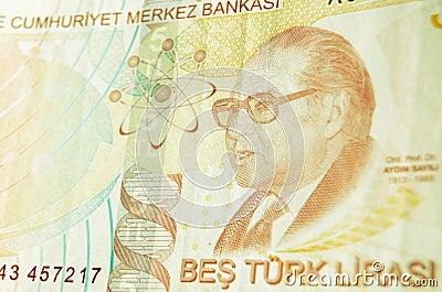 Aydin Sayili auf türkischer Banknote