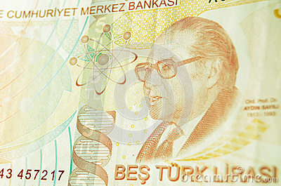 Aydin Sayili på turkisk sedel