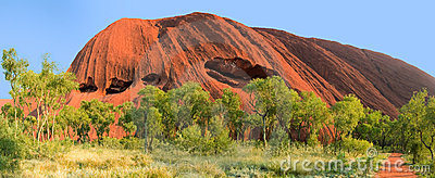 Ayer rock or Uluru outback Australia Editorial Image