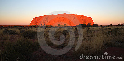 Ayers Rock Uluru Editorial Stock Photo