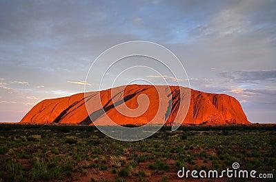 Ayers Rock (Uluru) - sunset Editorial Image