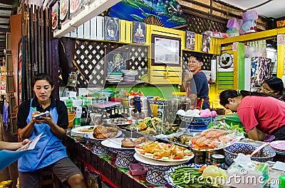 Ayothaya floating market editorial stock photo image for Ayutthaya thai cuisine bar