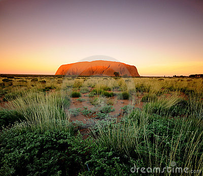 Ayres Rock Uluru Editorial Stock Photo