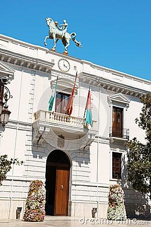 Ayuntamiento de Granada (Town Hall), Spain Editorial Photo