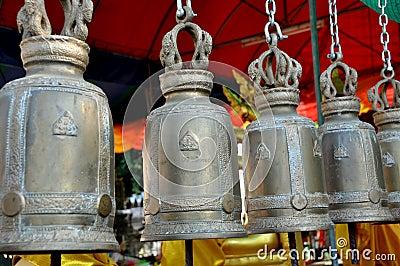 Ayutthaya, Thailand: Bells at Wat Phanon Choeng