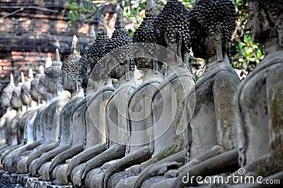Ayutthaya, Thailand:  Buddhas at Wat Chai Mongkhon