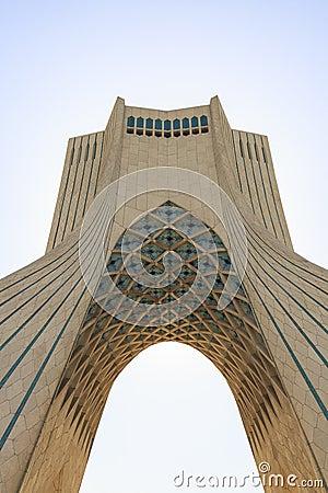 Free Azadi Tower In Tehran, Iran Stock Image - 92710341