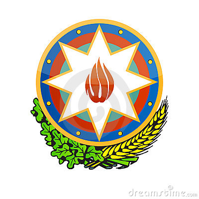 Azerbaijan coat of arms vector