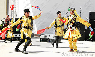 Azerbaijan folk dance Editorial Photography