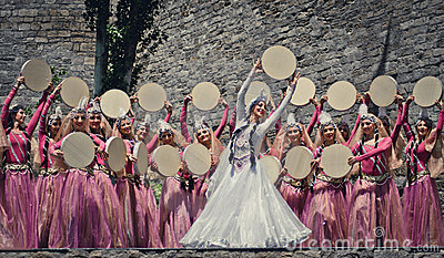 Azerbaijan national dance Editorial Image