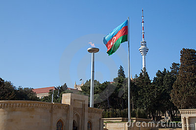 Azerbaijan, national flag