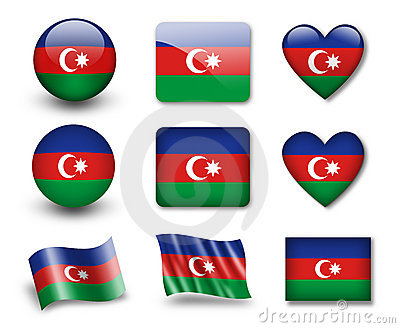 The Azerbaijani flag