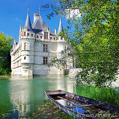 Free Azey-le-redeau Castle Stock Photo - 6584920